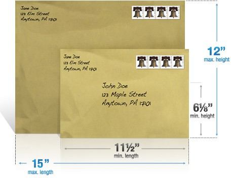 Size Of First Class Letter Envelope