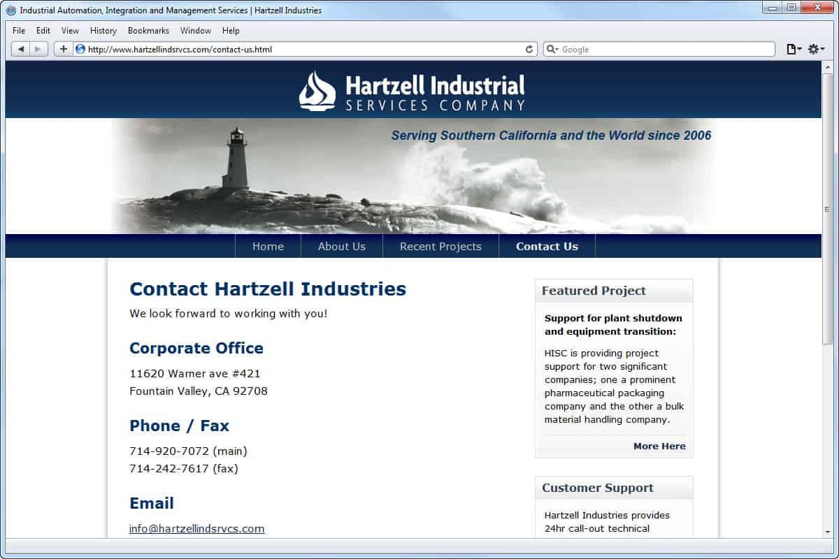 Website Development Hartzell Industries Mito Studios