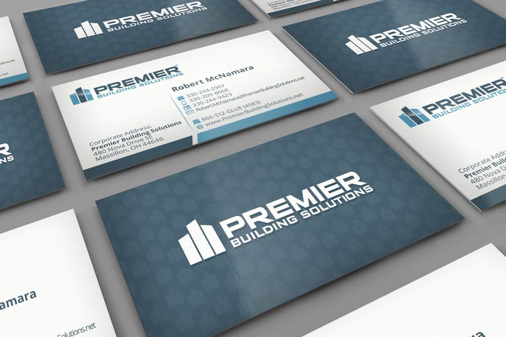 Design print business cards premier building solutions premier building solutions business cards pbs bizcards 3 5 x 2 in v2 reheart